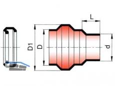Übergang auf Steinzeugrohr-Spitzende inkl.Rollring KGUS 250