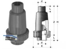 Kugelrückschlagvent  PVC-U 32 SRIV D 32 DN 25 EPM