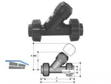 Rückschlagventil PVC-U   63 VRUIV 63 EPM