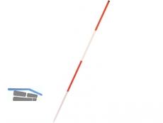 Baufluchtstab Stahl 2 m  Stab 26x0,6mm rot/weiß PVC-beschichtet