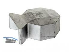 Abdeckkappe Oktavia Aluminium bis ZH 1,50m 743247 für End und Mittel