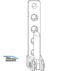 MACO Ecklager PVC, mit 7 mm Tragezapfen L=12 mm, 120 kg, silber (52764)