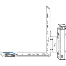 MACO Ecklagerband AS mit ÜV, 12/18-11 mm, links, 120 kg, silber (206997)