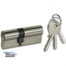 SECOTEC Einbaudoppelzylinder 35+40 Messing vernickelt SB-1 BL4