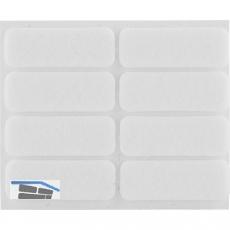 Filzgleiter rechteck, 44x16, Materialstärke 3 mm, selbstklebend, weiß, Inhalt 8