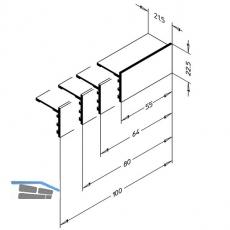 Endkappe EK 2020/100, Aluminium blank