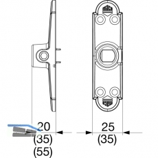 Ladenhaltekonsole Rustico 25 x 20, schwarz (56904)