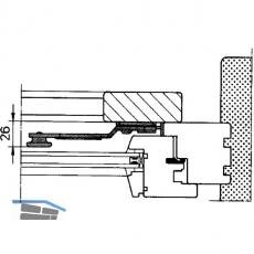 Ladenverschluss Rustico 1-flg. m. Arretierung, rechts, schwarz (14027)