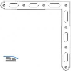 Ladenzierwinkel Rustico als Eckverbindung,Schenkel 225x225x25 mm,schwarz (94122)