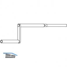 Bedienungskurbel 400 mm, ohne Kreuzgelenk 23859