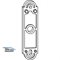 Unterlage MACO Rustico für Ladenhalter f. Türen, Stärke 5 mm, schwarz (42120)