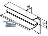 Abschluss Unterputz RAL 9016 weiss  70 mm Ausladung, links,  QB 56