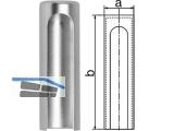 Aufsteckkopf 180-15-C02 flach Aluminium matt verchromt  Bandhöhe 92 mm