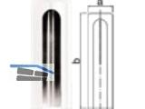 Aufsteckkopf 180-15-C16 flach Kunststoff weiss           Bandhöhe  92 mm