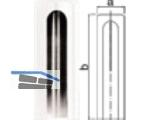 Aufsteckkopf 180-15-C03 flach Kunststoff weiss           Bandhöhe 112 mm