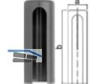 Aufsteckkopf 180-20-C00 flach Kunststoff schwarz         Bandhöhe 112 mm