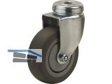 Apparate-Lenkrolle Serie ALR R-F  50 mm Rückenloch 10mm, max.  40 kg