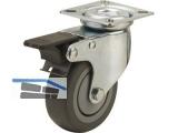 Apparate-Lenkrolle Serie ALF P-F  50 mm Platte 60x60 mm, Feststeller, max. 40 kg