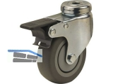 Apparate-Lenkrolle Serie ALF R-F  50 mm Rückenloch 10mm, Feststeller, max. 40 kg