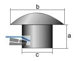 Abdeckkappe Außen-Ø 10 mm Innen-Ø  7 mm braun