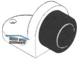 Anschlagpuffer mit grauem Gummipuffer silber eloxiert 012921