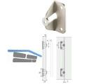 Adapter für Faltschiebetürgriff nickel matt 0115366