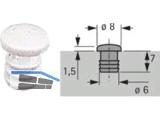 Anschlagpufferfür Bohrung Ø 6 x 7 mm zum Eindrücken beige 47353