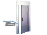 Baustellenschutztür vz DGL 750x1930 R f. Mauerlichte 860x1980 - 1180x2192 mm