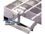 Bügeloberteil verzinkt für MW 33 x 33 mm zur Gitterrostmontage