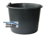 Baueimer 12 l schwarz mit Nasenbügel und Literskala