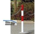 Absperrpfosten Parat_B  dm 76/ L 1330 mm rot-weiß, mit 2 Ösen u.Dreikantverschluß