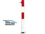 Absperrpfosten Sesam-B rot/weiss DK 116.12.343  100cm Modell B kippb.aufsch