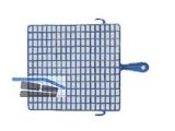 Abstreifgitter blau  20x28 cm Kunsstoff 40420