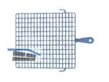 Abstreifgitter blau 27x30cm Kunststoff 40430
