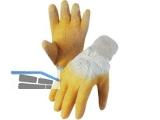 Arbeitshandschuh Latex Gr.10 gelb mit Strickstulpe