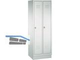 Garderobenschrank 8020-20 Abteilbreite 300mm  2-teilig