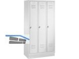 Garderobenschrank 8020-30 Abteilbreite 300mm  3-teilig