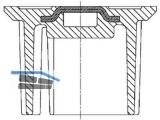 Deckel 1860 zu Tele-Straßenkappe 1850