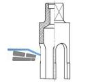 Anbohrfräser 5860  1\-24 für PVC-Rohre