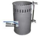 Abfallkorb Typ Ask 22 verzinkt mit Rohrschelle 60 mm 22L