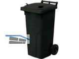 Abfall und Wertstoffsammelbehälter 120L Farbe: Anthrazit - mit Radsatz