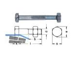 Bauschraube verzinkt ähnlich DIN 601 M 12 x 200