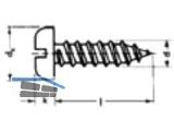 Blechschraube Linsenkopf verzinkt DIN 7971 2,9 x 13