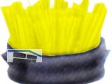 Bürsteneinsatz gelb zu Gummiwabenmatte