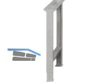 Lista Werkbankfuss , RAL 7035 lichtgrau 80x725x700-1050 mm, Tragkr.400 Kg