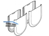 Abdeckkappe Hawa für Glas Kunststoff Edelstahl-Effekt   16044