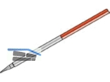 Rundfluchtstab Stahl 2m  DM 24x0,8m rot/weiße PVC-Ummantelung, 2x1m m.Spitze
