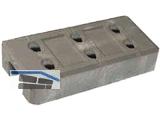 Betonlochfuss für Bauzaun L = 620mm ca.36 kg    25/40 Stk/Pal