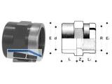 Muffe PVC-U   40x11/4 MIMV 40 x 1 1/4