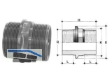 Doppelnippel PVC-U   1 NFV 1